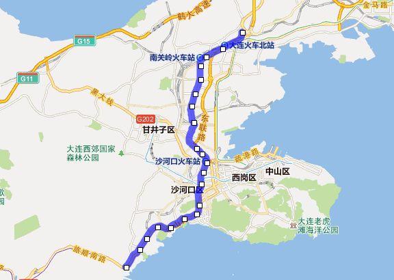 大连地铁1号线站点及线路图介绍图片