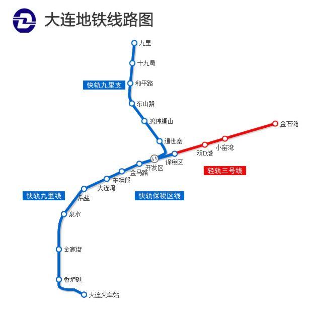 大连地铁1号线什么时间开及站点图片