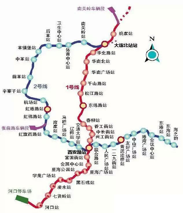 (图)大连地铁1号线二期工程线路图-大连地铁1号线二期工程最新消息图片