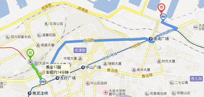 大连火车站到大连港怎么走图片