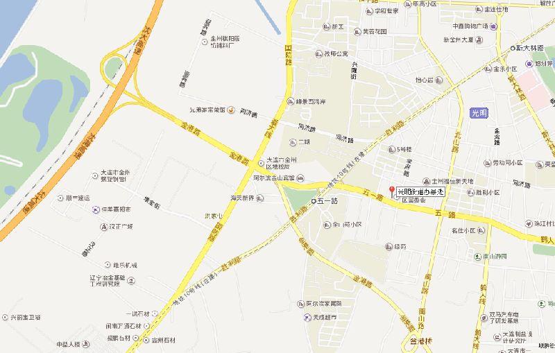 大连火车站-金石滩_金州区光明街道地图高清版- 大连本地宝