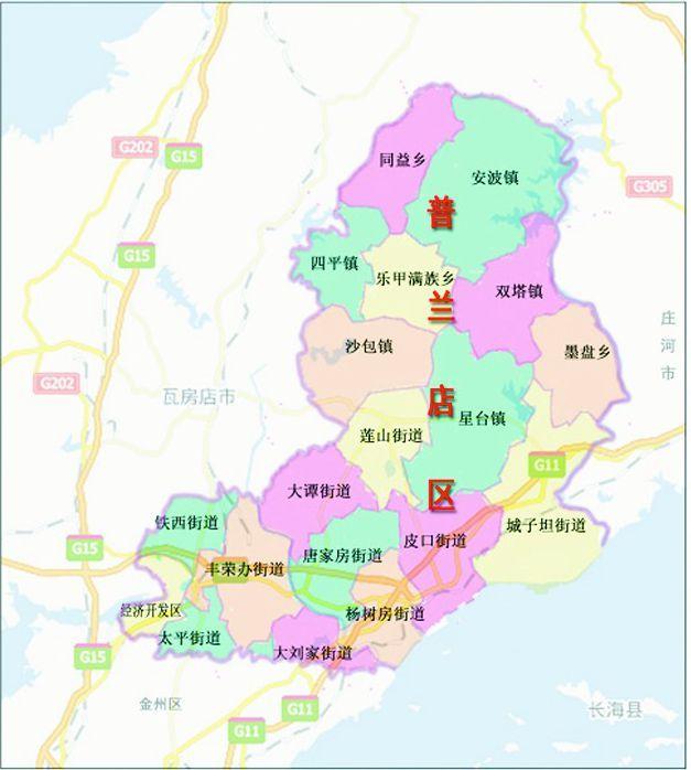 普兰店区双塔镇地图全图高清版图片