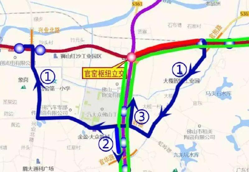 佛山一环第二阶段封闭路段(附绕行指南)
