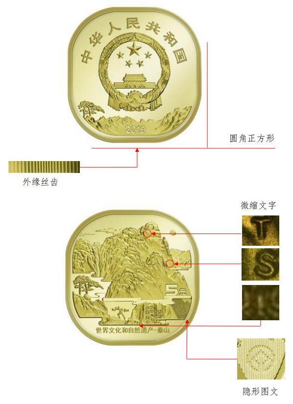 2019中国人民银行泰山纪念币发行公告(原文)
