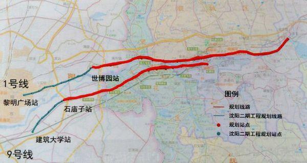 注:抚顺地铁1号线路暂未发布,此为大致走向,后续本文将会第一时图片