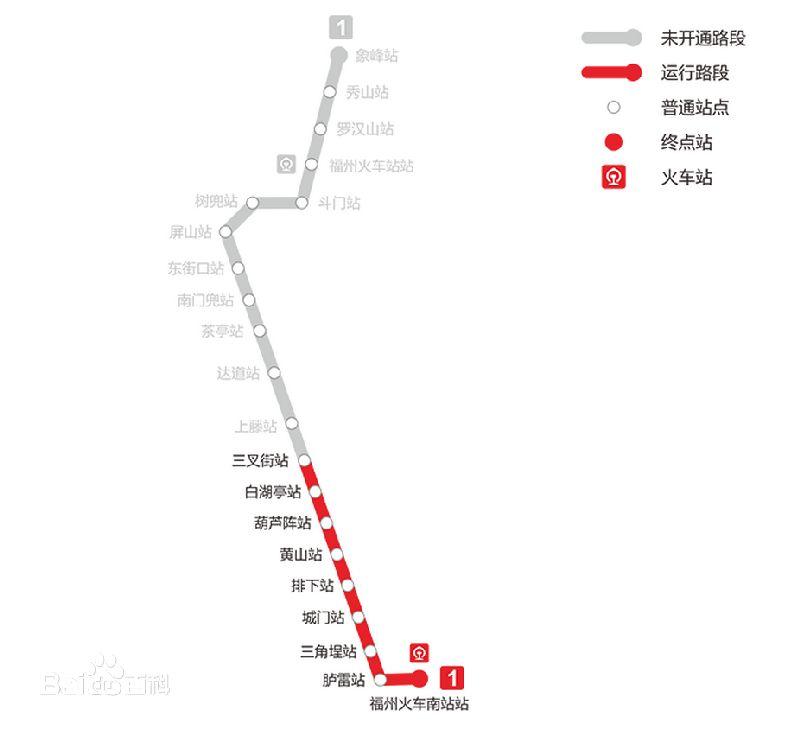 地铁一号线权限线路站点图