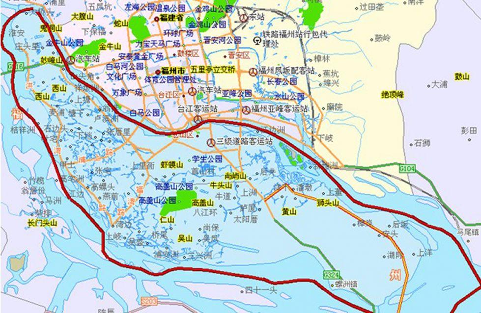 福建福州市区地图_福州地图全图高清版 _排行榜大全