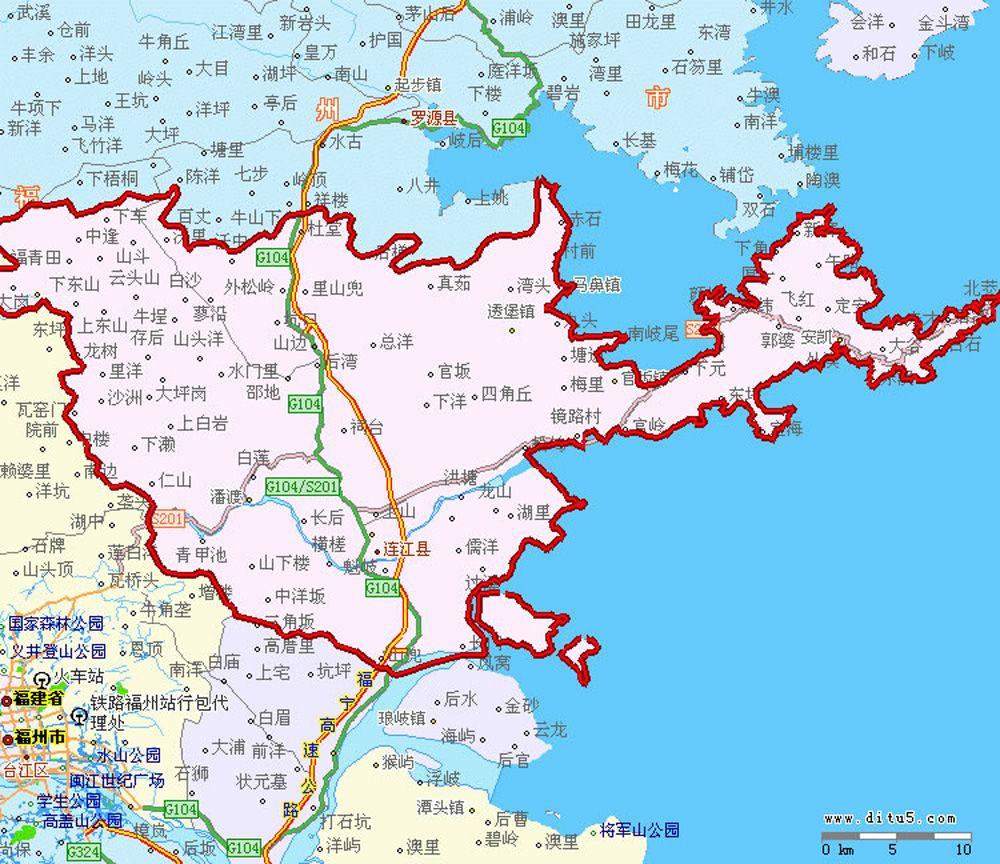 福建福州市区地图_连江地图全图高清版- 福州本地宝