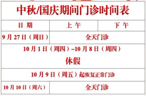 2020福州各社区卫生服务中心国庆放假时间- 福州本地宝