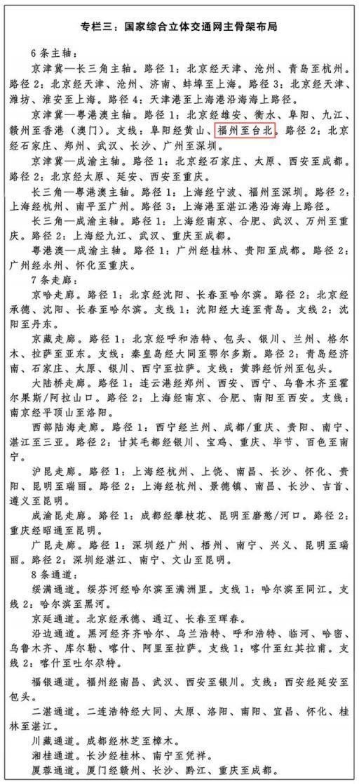 福州到台北高速规划详情插图1