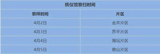 2021平潭清明节殡仪馆祭拜时间插图