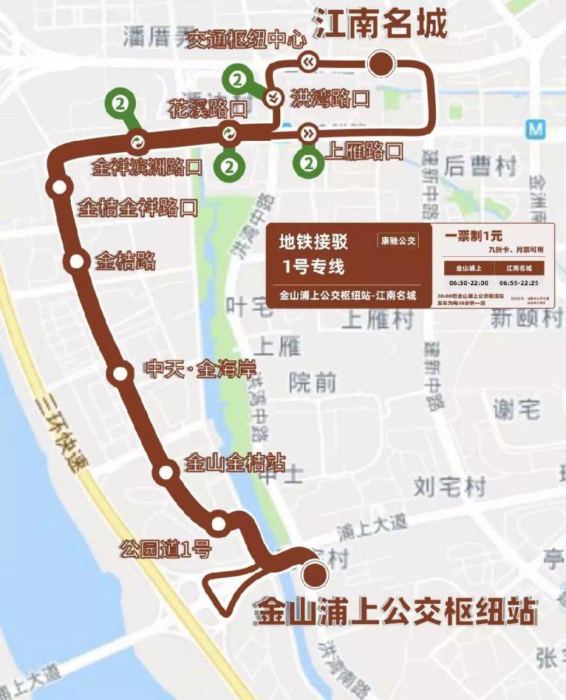 福州地铁接驳1号专线公交(运营时间 线路 站点)