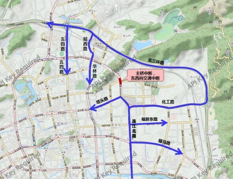 鹤林高架桥拆除重建施工期间实行临时交通管制通告
