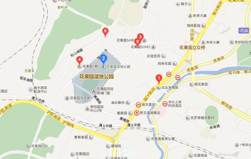 贵阳花果园地址:贵州省贵阳市南明区中山南路