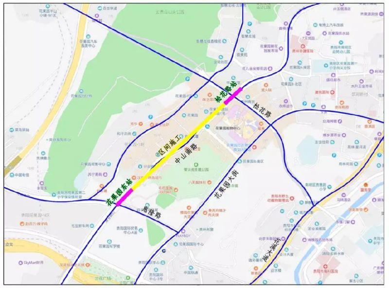 贵阳地铁3号线花果园周边交通调整通知
