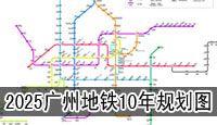 2015-2025年广州地铁规划图