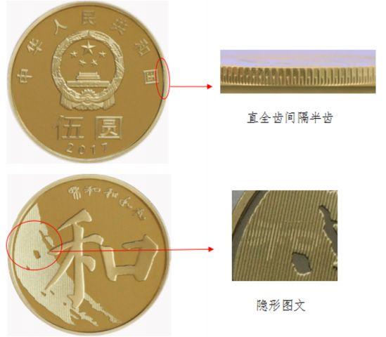 2017年和字书法楷书普通纪念币发行公告