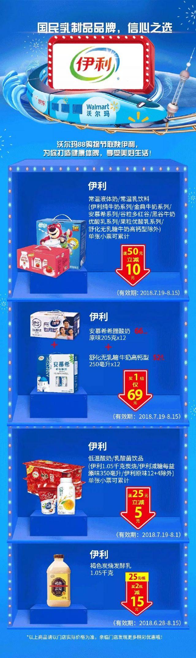 沃尔玛 | 88购物节最高88元优惠券(7.19-8.15)