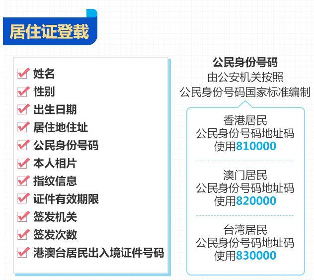 香港居民身份证号码_港澳台居民居住证上有哪些信息?- 广州本地宝