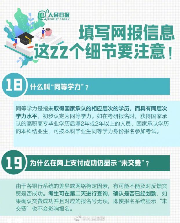 2021年考研预报名填写信息注意事项