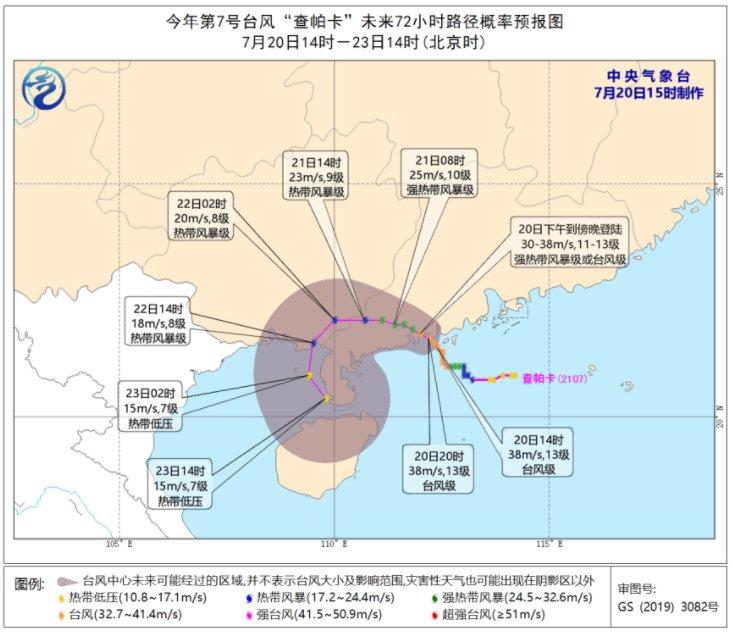 2021年第7号台风登陆地点是哪里(更新中)