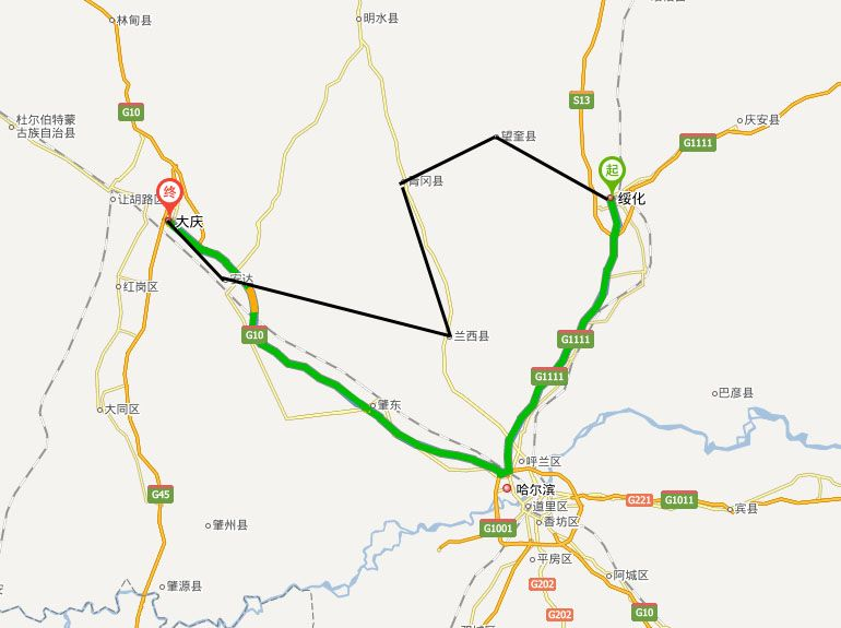 綏大高速地圖走向詳情