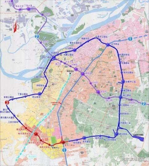 哈尔滨地铁3号线建设概况(已开通站点、建设中站点)