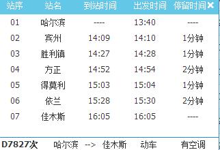 哈佳快铁列车时刻表
