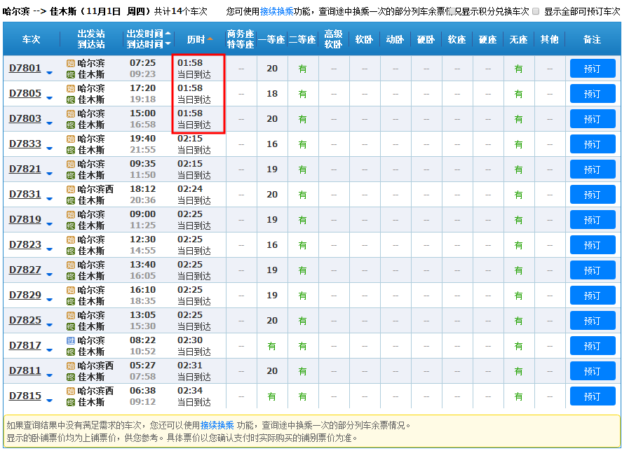 哈佳快铁列车运行最新调整信息(提速、列车调整)