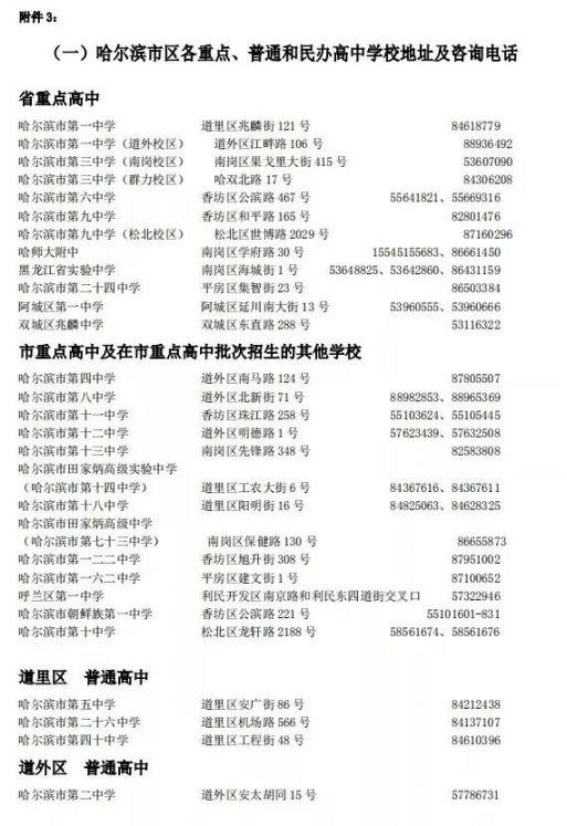 2020哈尔滨第二次中考志愿填报指南