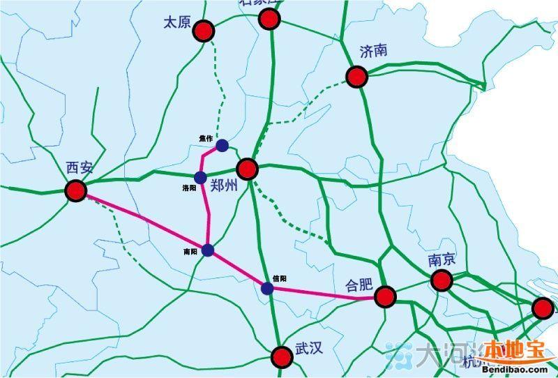 合西高铁线路图(最新)