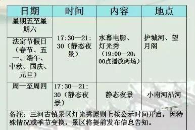 2019三河古镇景区夜景冬季排期