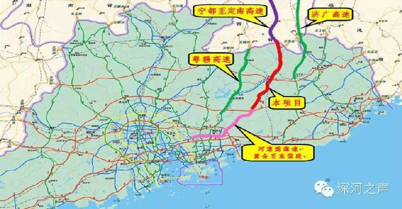 河惠莞高速规划图图片