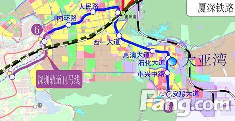 惠州地铁14号线最新站点消息图片