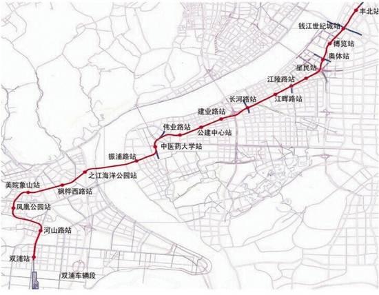 杭州地铁6号线最新消息 线路图 站点 开通时间图片