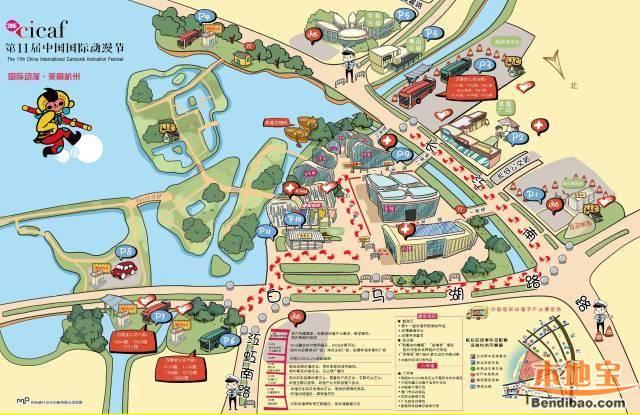 2015杭州动漫节手绘地图出炉