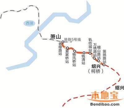 杭绍城际铁路最新消息(站点+线路图)