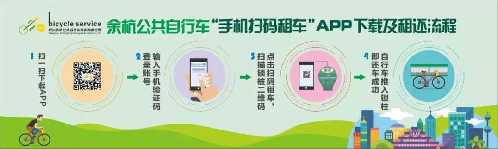 2018余杭公共自行车扫码租车等新功能上线(介绍 计费标准)