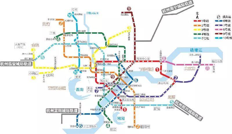 杭州地铁1-10号线最近进展 附最全通车时间表