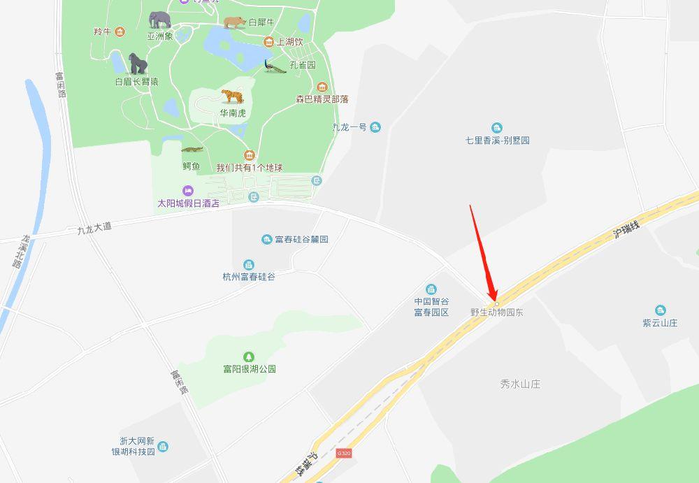 杭富城际铁路野生动物园站具体位置在哪里?