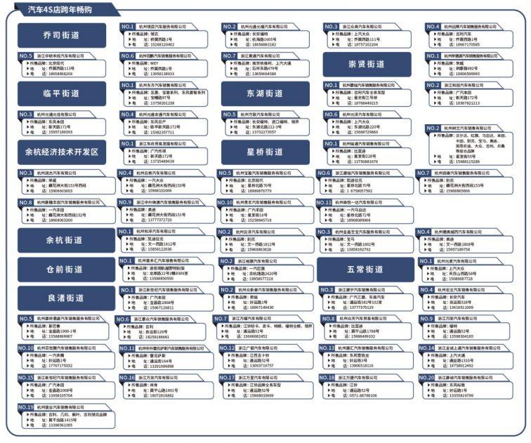 2021元旦杭州商场活动汇总(衣服 美食 日用品 汽车…)