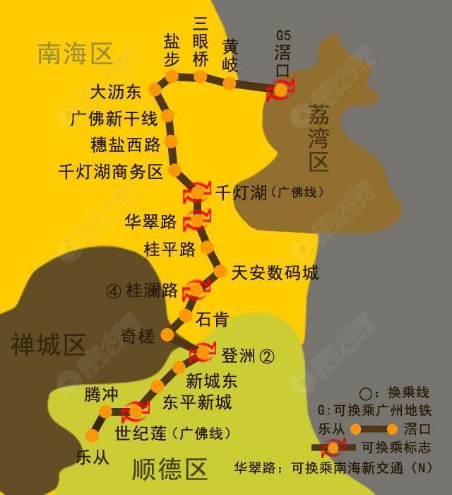 佛山地铁6号线最新规划图