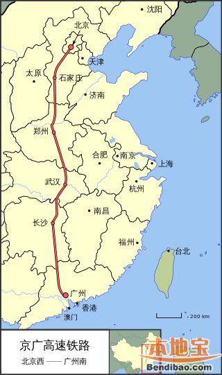 京昆高铁线路图 全线 分段线路图片