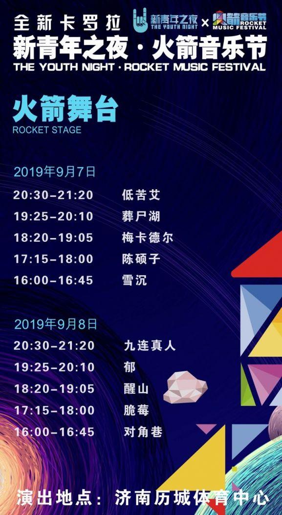 2019济南火箭音乐节全攻略(时间 门票 阵容)