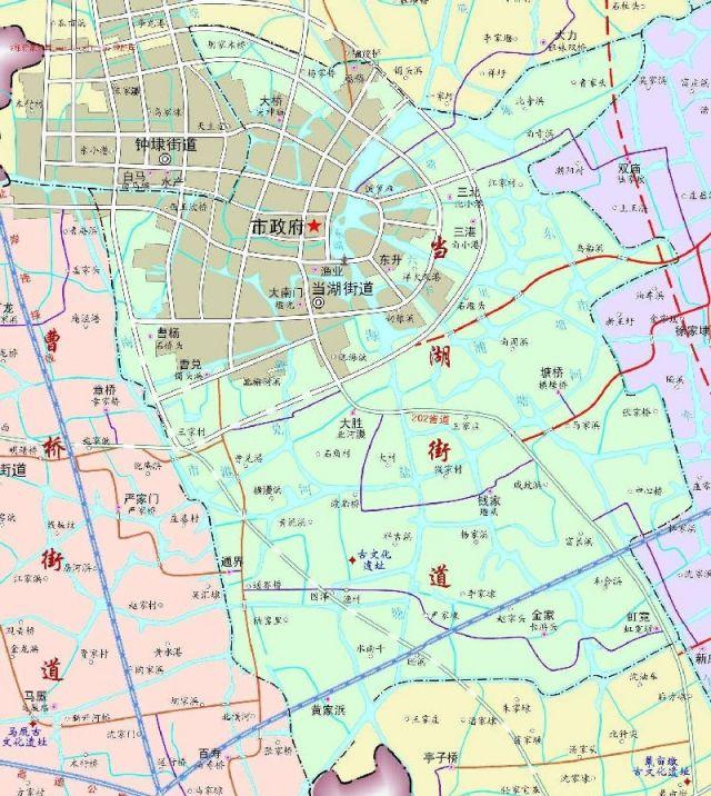 平湖市当湖街道地图全图高清版