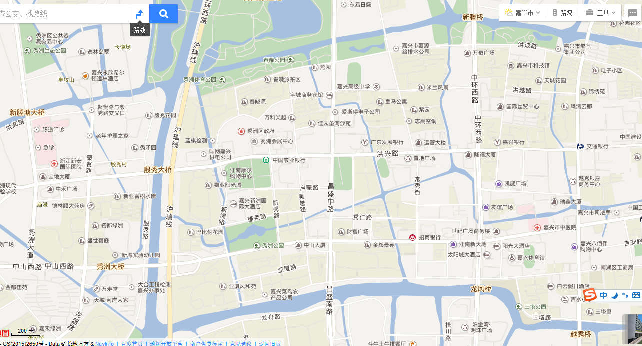 秀洲区新城街道地图全图高清版