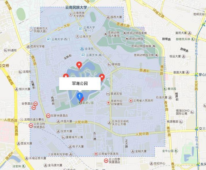 昆明翠湖公园地图