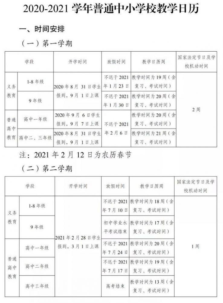 2021年云南寒假放假时间(中小学各年级)