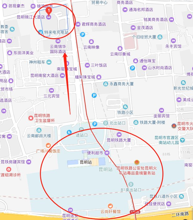 昆明火车站到长水机场大巴在哪坐?