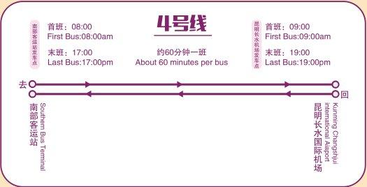 昆明空港4号线时刻表、票价及线路